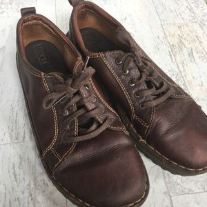 BORN Brown Leather Oxford Lace Up Sneaker Shoe 9.5